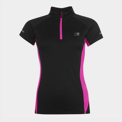 Karrimor quarter  Zip Short Sleeve T Shirt Ladies