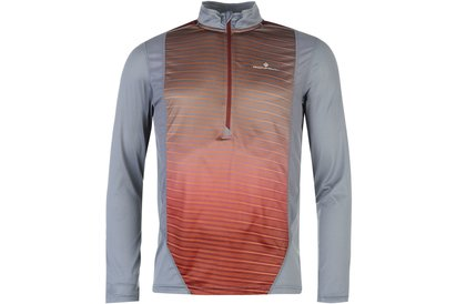 Ron Hill Long Sleeve Zip Running Top Mens