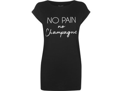 USA Pro No Pain Slogan T-Shirt Ladies