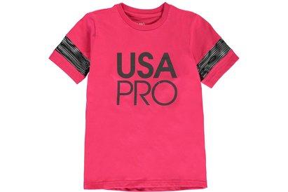USA Pro Large Logo Short Sleeve Tee Girls