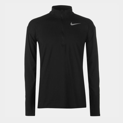 Nike Dri Fit Element Half Zip Long Sleeve Running Top Mens