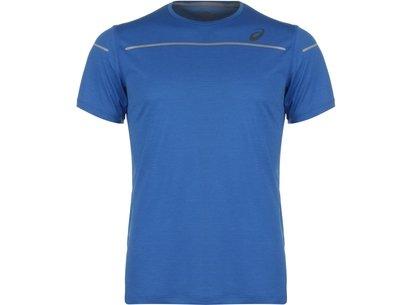 Asics Lite Short Short Sleeve T-Shirt Mens Blue