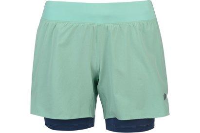 Asics 2 in 1 Shorts Ladies