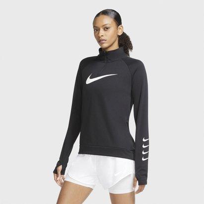 Nike Swoosh Half Zip Running Top Womens