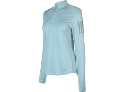 adidas half  Zip Long Sleeve Top Ladies