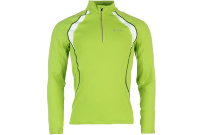 Odlo Stand Up Collar Long Sleeved Half Zip Mens Ski Base Layer
