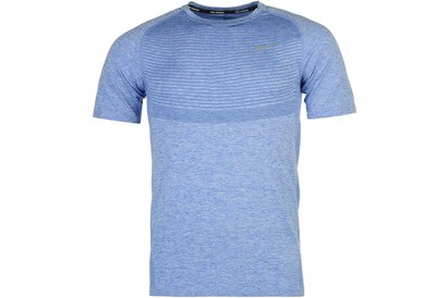 Nike Dri Fit Knit Shirt Sleeve Running Top Mens