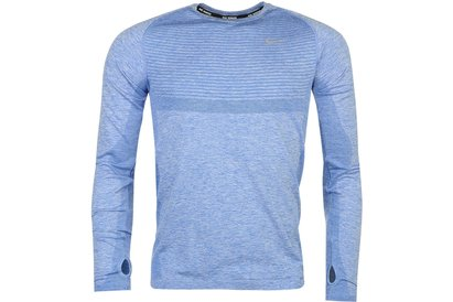 Nike Dri Fit Knit Long Sleeve Shirt Mens
