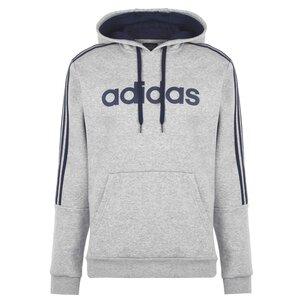 adidas 3 Stripes Logo Over The Head Hoody Mens