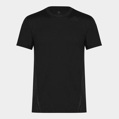 adidas Mens Aeroknit 3 Stripes T Shirt Slim