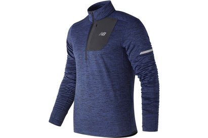 New Balance Heat Half Zip Running Top Mens