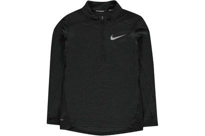 Nike Breathe Half Zip Running Top Junior