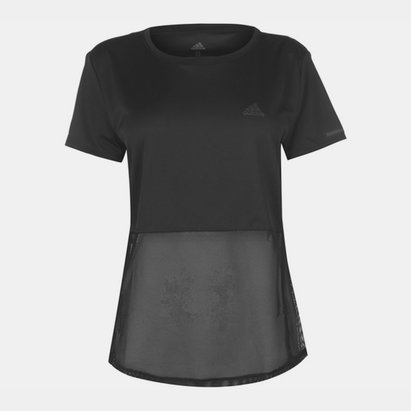adidas Mesh Layer T Shirt Ladies