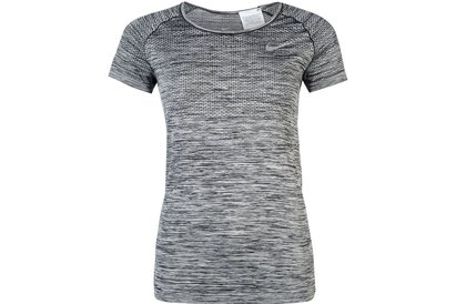 Nike Dri Fit Knit Short Sleeve T-Shirt Ladies
