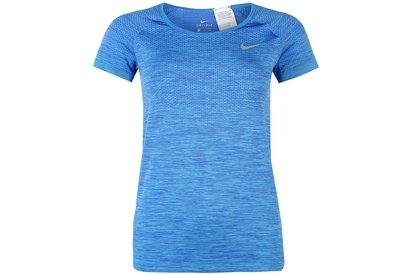Nike Dri Fit Knit Short Sleeve T-Shirt Ladies