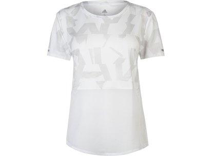 adidas Mesh Running T Shirt Mens