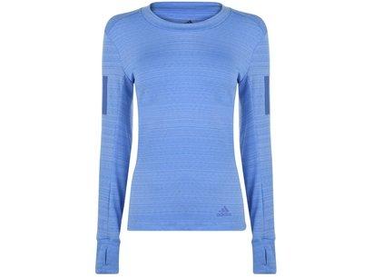 adidas Long Sleeve Runner T Shirt Ladies