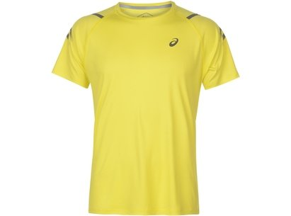 Asics Icon Short Sleeve T-Shirt Mens Yellow