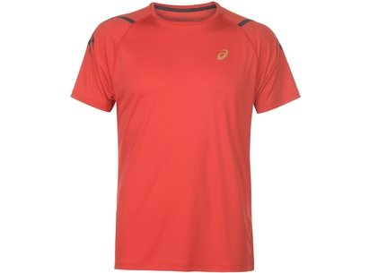Asics Icon Short Sleeve T-Shirt Mens Red