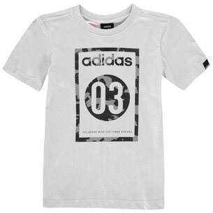 adidas Camo QT T Shirt Junior Boys