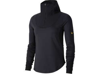 Nike Glam Long Sleeve Zip Top Ladies