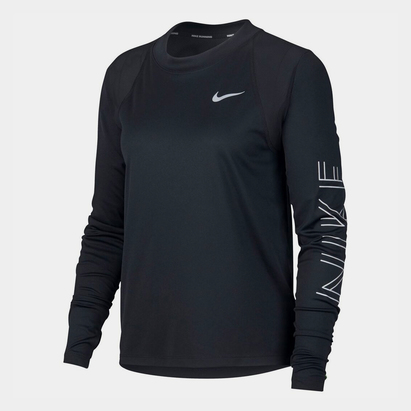 Nike Miler GX Long Sleeve T Shirt Ladies