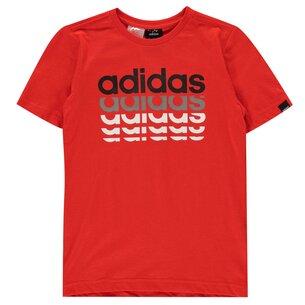 adidas Repeat Linear QT T Shirt Junior Boys