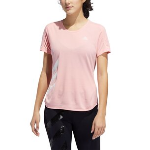 adidas Run It Short Sleeve T Shirt Ladies