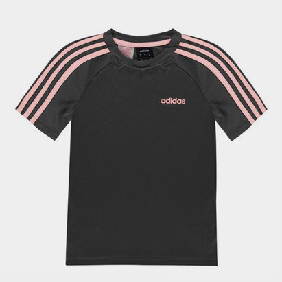 adidas 3 Stripe Sereno T Shirt Junior Boys