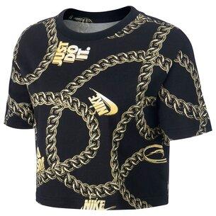 Nike Dunk Crop T Shirt Ladies