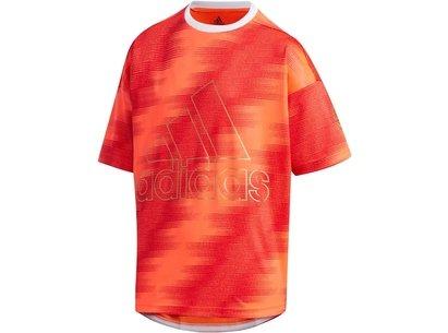 adidas Badge T Shirt Junior Boys