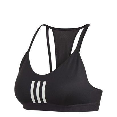 adidas Womens All Me 3 Stripes Mesh Sports Bra