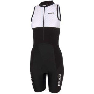 Zone3 Lava Long Distance Womens Full Zip Short Sleeve Tri Suit