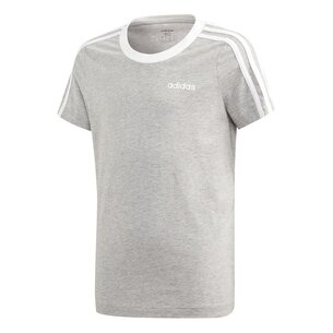 adidas Essential 3 Stripe T Shirt Junior Girls
