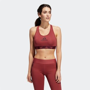 adidas Womens Alphaskin Sports Bra Med Support