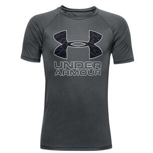 Under Armour Armour Tech Big Logo T Shirt Junior Boys