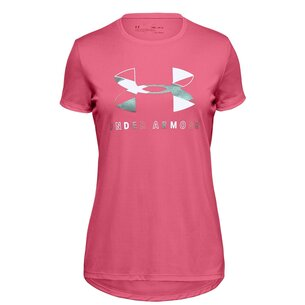 Under Armour Big Logo Short Sleeve T Shirt Junior Girls