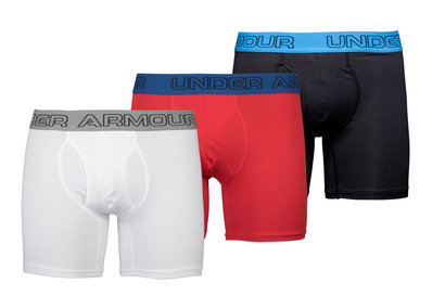 Under Armour Charged Cotton Stretch 15cm Boxer Jock 3 Pack