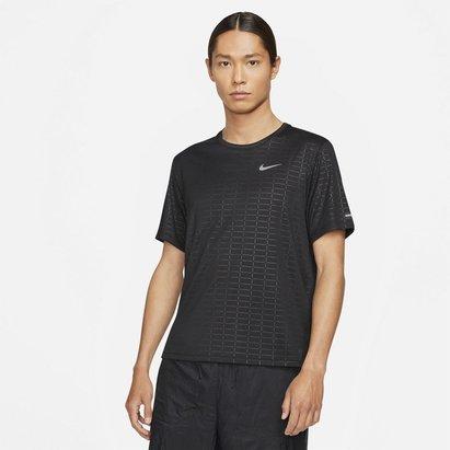 Nike Miler Run Division Mens Short Sleeve Running Top
