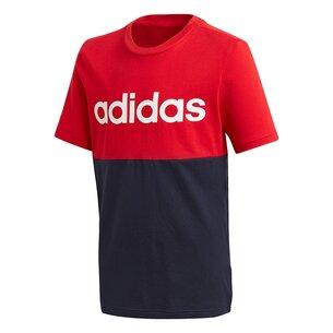 adidas Linear Colour Block T Shirt Junior Boys
