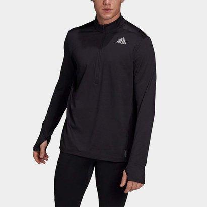 adidas Own The Run  half  Zip Long Sleeve Top Mens