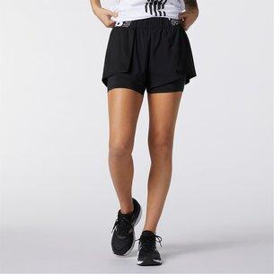 New Balance Relentless 2in1 Running Shorts Ladies