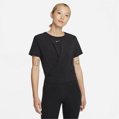 Nike Dri FIT One Luxe Womens Twist Standard Fit Short Sleeve Top