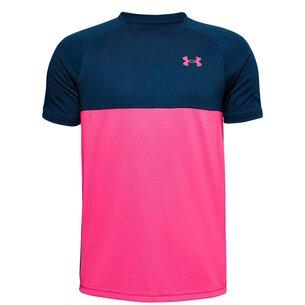 Under Armour Tech Colour Block Short Sleeve T-Shirt Junior Boys