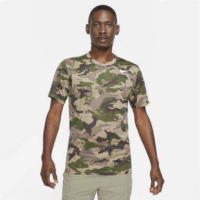 Nike Pro Camo T Shirt Mens