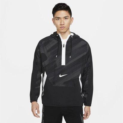 Nike Dri FIT Sport Clash Mens Woven Hooded Training Jacket