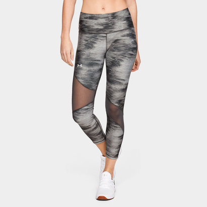 Under Armour HeatGear Armour Ladies Ankle Print Crop Leggings