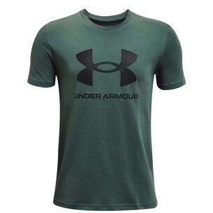 Under Armour Armour Sportstyle Short Sleeve T Shirt Junior Boys