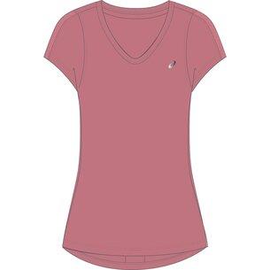 Asics V Neck Running T Shirt Ladies