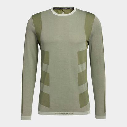 adidas Stud Tech Long Sleeve T Shirt Mens